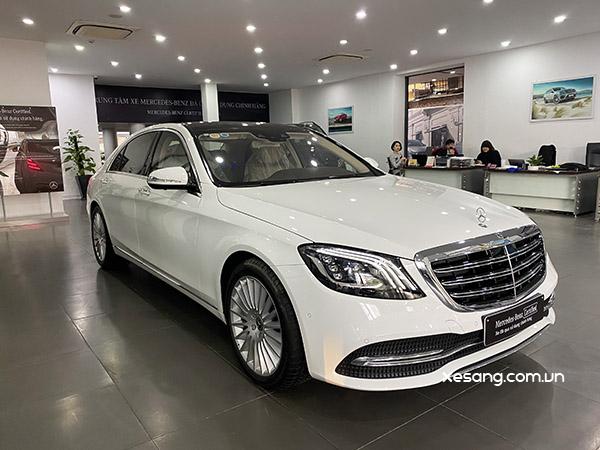 Mercedes S450L 2020, Màu Trắng nội thất Kem, Chạy lướt 999 km, như mới, rẻ hơn gần 500 triệu