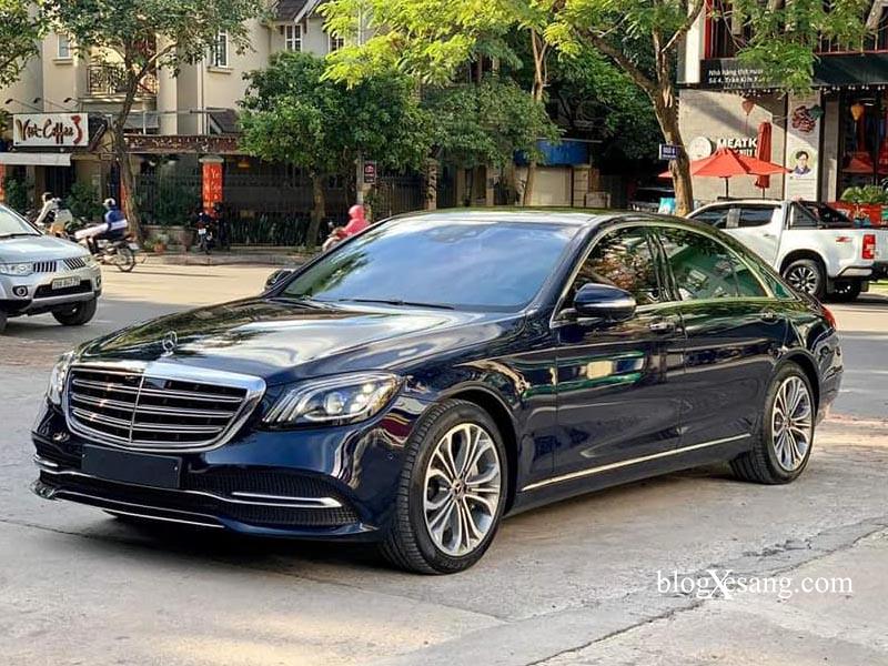 Mercedes S450 Luxury 2019 màu Xanh nội thất Kem mới chạy 10269 km giá 4 tỷ 499