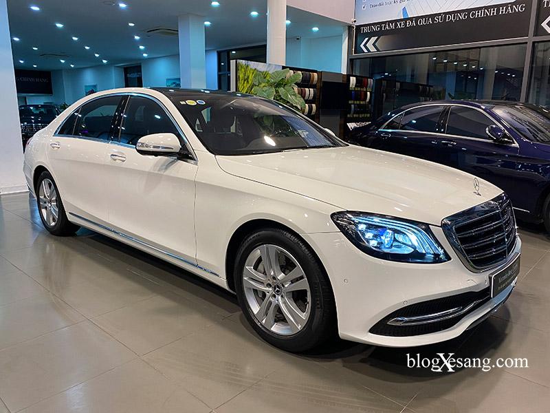 Mercedes S450L màu trắng, đăng ký 2019 chạy lướt 7200 km giá cực hợp lý