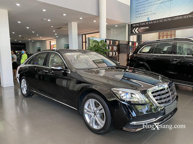 Đại lý chính hãng Mercedes, Bán xe S450 sản xuất 2019 cũ, màu Đen, Chạy lướt 9771 km
