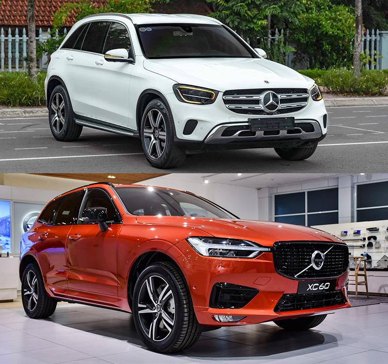 So sánh nhanh xe Mercedes GLC 200 4Matic 2021 và Volvo XC60 2021